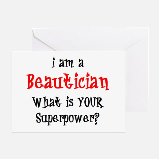 beautician Greeting Card