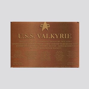 U.S.S. Valkyrie Plaque Rectangle Magnet