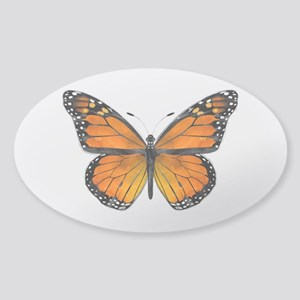 Monarch Butterfly Sticker (Oval)