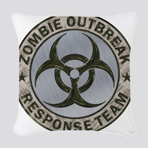 Zombie Outbreak Response Team  Woven Throw Pillow