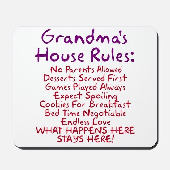 Grandma's House Rules Mousepad
