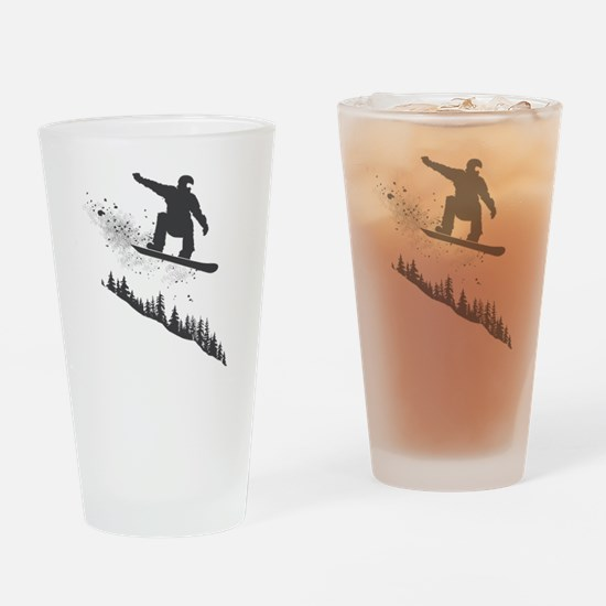 Snowboarder Drinking Glass