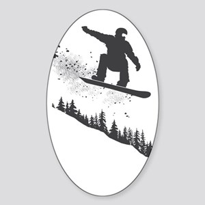 Snowboarder Sticker (Oval)