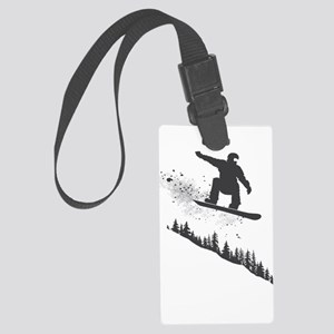 Snowboarder Large Luggage Tag