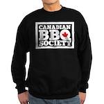 Canadian Bbq Society - Black Tex Sweatshirt (Dark)