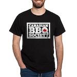 Canadian Bbq Society - Black Text Dar Dark T-Shirt