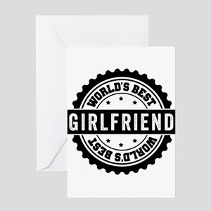 Worlds Best Girlfriend Greeting Cards