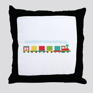 Toy Train Throw Pillow
