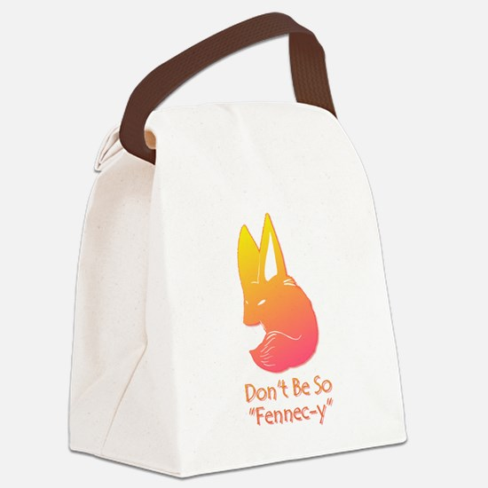 Don't Be So Fennec-y (Sunset) Canvas Lunch Bag