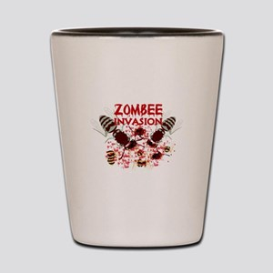 Invasion Of The Zombees Shot Glass