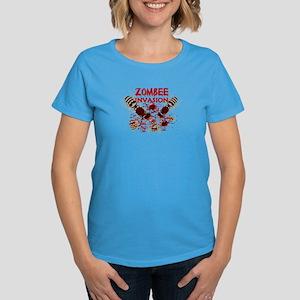Invasion Of The Zombees Women's Dark T-Shirt