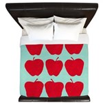 9 Apple Blue Red King Duvet