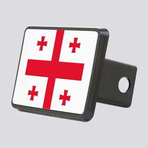 Flag of Georgia Rectangular Hitch Cover