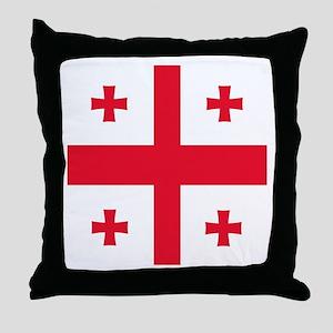 Flag of Georgia Throw Pillow