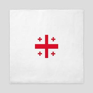Flag of Georgia Queen Duvet