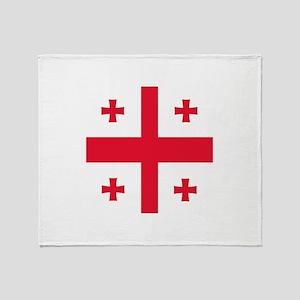 Flag of Georgia Throw Blanket