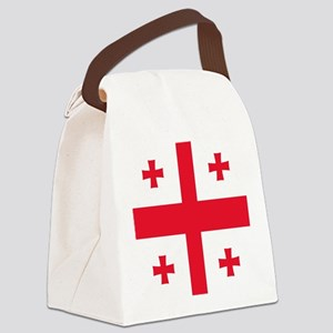 Flag of Georgia Canvas Lunch Bag
