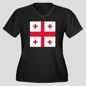 Flag of Georgia Plus Size T-Shirt