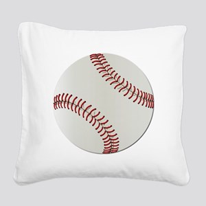 Baseball Ball - No Txt Square Canvas Pillow
