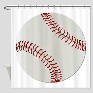 Baseball Ball - No Txt Shower Curtain