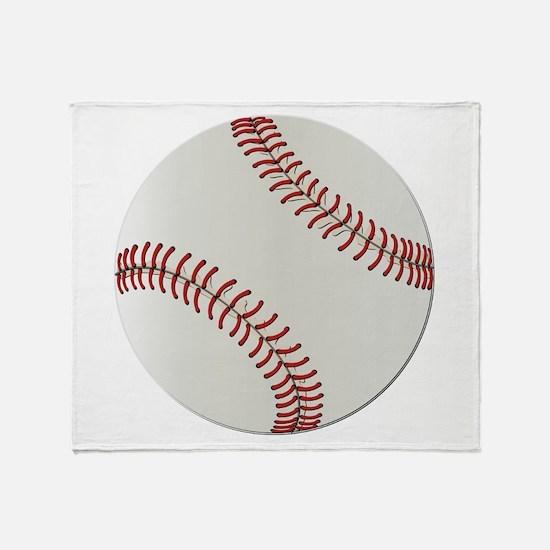 Baseball Ball - No Txt Throw Blanket