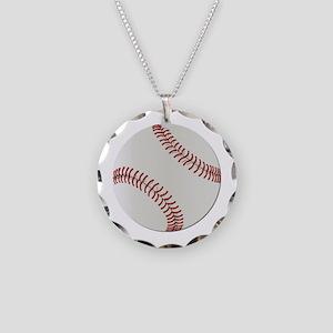 Baseball Ball - No Txt Necklace Circle Charm
