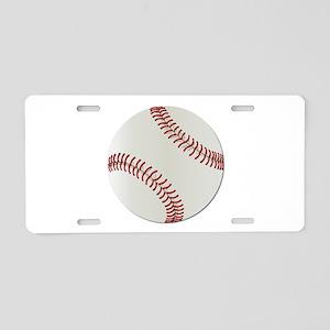 Baseball Ball - No Txt Aluminum License Plate