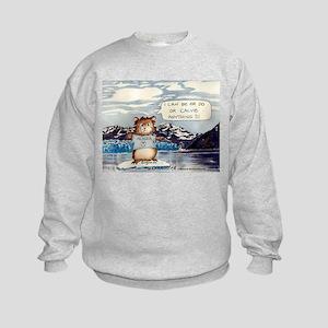 Abrahamster in Alaska Kids Sweatshirt