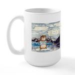 Abrahamster in Alaska Large Mug