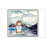 Abrahamster in Alaska Large Poster