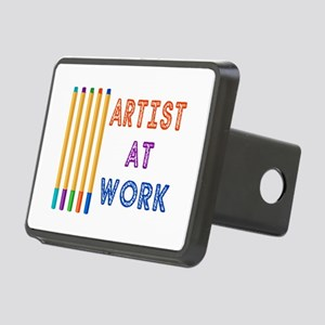 Artist At Work Oil Pastels Rectangular Hitch Cover