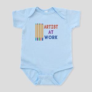 Artist At Work Oil Pastels Infant Bodysuit