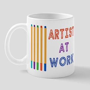 Artist At Work Oil Pastels Mug