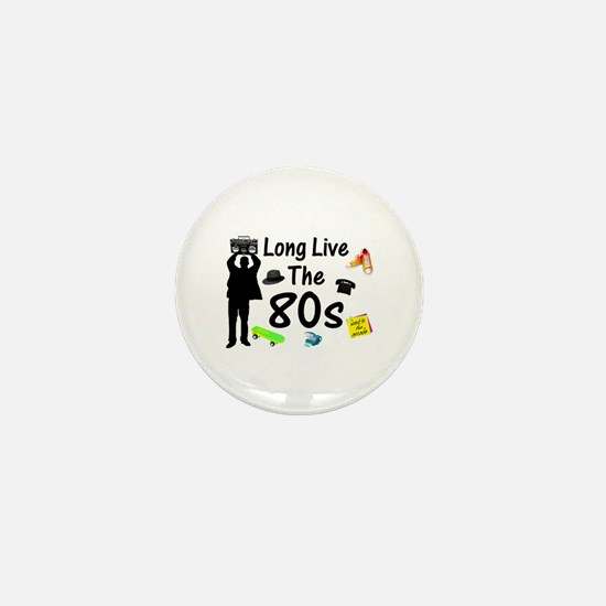 Long Live The 80s Culture Mini Button