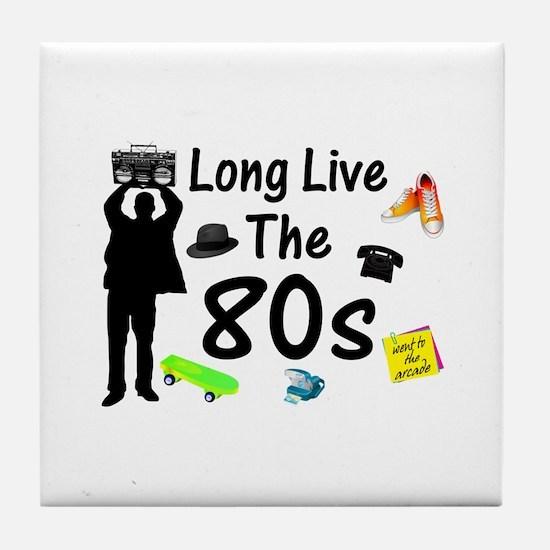 Long Live The 80s Culture Tile Coaster