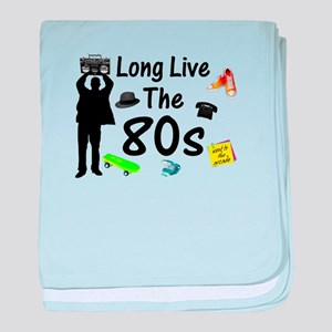 Long Live The 80s Culture baby blanket