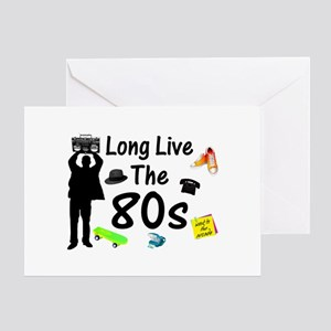 Long Live The 80s Culture Greeting Card