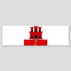 Flag of Gibraltar Bumper Sticker