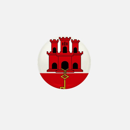 Flag of Gibraltar Mini Button