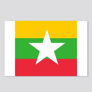 Flag of Myanmar Postcards (Package of 8)
