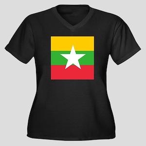 Flag of Myanmar Plus Size T-Shirt
