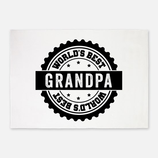 World's Best Grandpa 5'x7'Area Rug