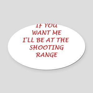 shooting range Oval Car Magnet