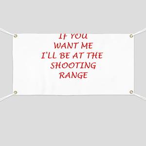 shooting range Banner