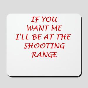 shooting range Mousepad