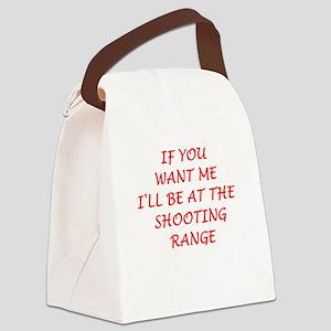 shooting range Canvas Lunch Bag