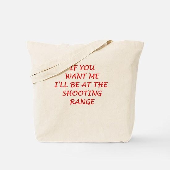 shooting range Tote Bag
