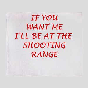 shooting range Throw Blanket