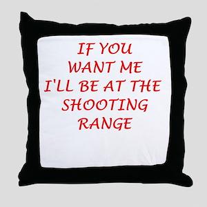 shooting range Throw Pillow