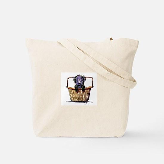 BLACK DOODLES ROCK / DDL BASKET Tote Bag
